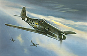 Focke-Wulf Fw 190 D-13 aviation art print by Jerry Crandall