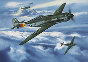 JG 301 Staff Flight Ta-152 aviation art print by Jerry Crandall