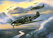 JG-54 Green Hearts, Messerschmitt Bf 109 aviation art print by Jerry Crandall