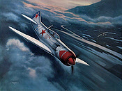 Lavochkin LA-7 IV Ivan N. Kozhedub, Aviation Art print by Jerry Crandall