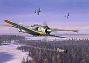 Winter Wulf - Focke Wulf 190 Green Heart aviation art by Jim Laurier