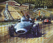 Tony Brooks Winner 1958, Vanwall GP Belgium 1958 F1 art print by Juan Carlos Ferrigno