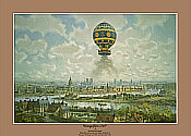 Montgolfiere 1783, aviation art print by Kenneth McDonough