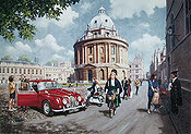 University Days, Jaguar Mark II automobile art print by Kevin Walsh