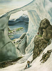 No. 11 Larsen Ice Shelf Antarctica Country Club, golf art print by Loyal H Chapman