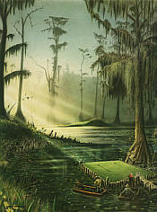 No. 12 Okefenokee Swamp Municipal, golf art print by Loyal H Chapman