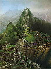 No. 14 Machu Picchu Golf Club, golf art print by Loyal H Chapman