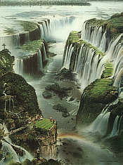 No. 18 Iguassu Falls Golf Course, golf art print by Loyal H Chapman
