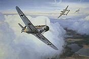 Air Aces Messerschmitt Me 109G-5 aviation art print by Mark Postlethwaite