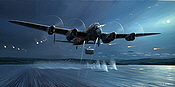 Dambusters - The Opening Shots, Avro Lancaster aviation art print by Mark Postlethwaite