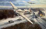 Enemy at the Gate, Yakovlev Yak 1 aviation art print by Mark Postlethwaite
