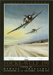 Famous Fighters FW-190 aviation art print by Mark Postlethwaite