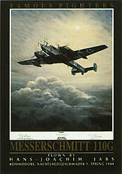 Famous Fighters Messerschmitt 110G aviation art print by Mark Postlethwaite