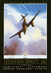Famous Fighters Messerschmitt Me-262 aviation art print by Mark Postlethwaite