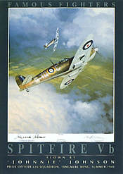 Famous Fighters Spitfire Vb aviation art print by Mark Postlethwaite