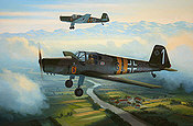 RLM Buecker 181 Bestmann aviation art print by Mark Postlethwaite