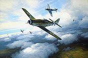 RLM Focke-Wulf Fw 190D-9 JG 26 aviation art print by Mark Postlethwaite