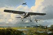 RLM Fieseler Fi 156 Storch aviation art print by Mark Postlethwaite