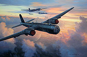 RLM Heinkel He-177 Greif KG 100 aviation art print by Mark Postlethwaite