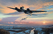 RLM Junkers Ju 88-G1 aviation art print by Mark Postlethwaite