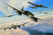 RLM Messerschmitt Me 262 JG 7 aviation art print by Mark Postlethwaite