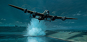 The American Dambuster, Avro Lancaster attacking the Sorpe Dam - Aviation Art by Mark Postlethwaite