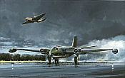 Canberra Tribute, Canberra aviation art print by Michael Rondot