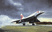 Concorde Farewell, aviation art print by Michael Rondot