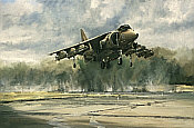 Gauntlet, Harrier II aviation art print by Michael Rondot
