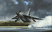 Lightning Thunder, English Electric Lightning aviation art print by Michael Rondot