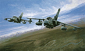 Operation Telic, Tornado GR4s over Baghdad aviation art print by Michael Rondot