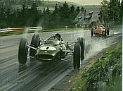 Clark Supreme, Jim Clark Lotus F1 Motorsport Kunstdruck von Michael Turner
