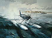 Schneider Trophy Winner, Supermarine S6B aviation art print by Michael Turner