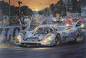 As Darkness Beckons Le Mans 1971, Porsche 917K art print by Nicholas Watts