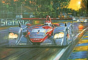 Audi at Le Mans 2002, motorsport art print by Nicholas Watts