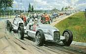 Birth of the Silver Arrows, Mercedes-Benz W25A motorsport art print by Nicholas Watts