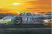 Daytona Porsche 962c, motorsport art print by Nicholas Watts