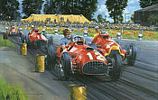 Ferrari - The first Grand Prix Victory, Ferrari 375 F1 art print by Nicholas Watts