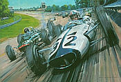 Grand Prix - A Tribute to the historic movie, art print by Nicholas Watts