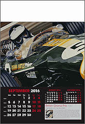 Grand Prix Formel-1 Kunst-Kalender 2016 September Jim Clark - von Colin Carter
