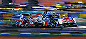Le Mans 2018 Victory for Toyota - TS050 Hybrid No 8 - Automobile Art by Nicholas Watts