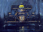 Maiden Victory for Ayrton Senna - Lotus-Renault 1985 Portuguese Grand Prix - Formula One art by Nicholas Watts