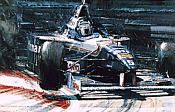 Out of the Shadows, Damon Hill Williams-Renault F1 art print by Nicholas Watts