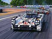 Porsche 919 Hybrid at Le Mans 2015, Motorsport Art Print by Nicholas Watts