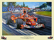 Schumacher Champion Supreme, signed Ferrari F1 motorsport art print by Nicholas Watts