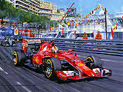Sebastian Vettel - Street Fighter, Formula-1 art print by Nicholas Watts