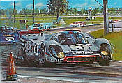 The 12 Hours of Sebring 1971, Porsche 917 motorsport art print by Nicholas Watts