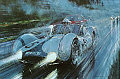 Victory Bound, Maserati Tipo 61 Birdcage Nuerburgring motorsport art print by Nicholas Watts