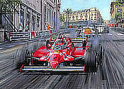 Villeneuve - Monaco Grand Prix 1981, Formual One art print by Nicholas Watts