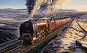 Crimson Evening - 'Duchess of Sutherland' - Railway Art by Nicolas Trudgian